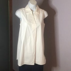Essential Ellen Tracy XS White Pull On Tunic